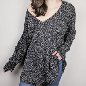 American Threads | Oversize Speckled Grey Sweater